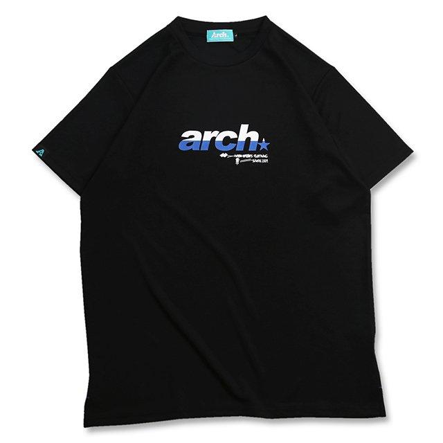 バスケ アーチ スプリット スポーティロゴ Tシャツ ブラック