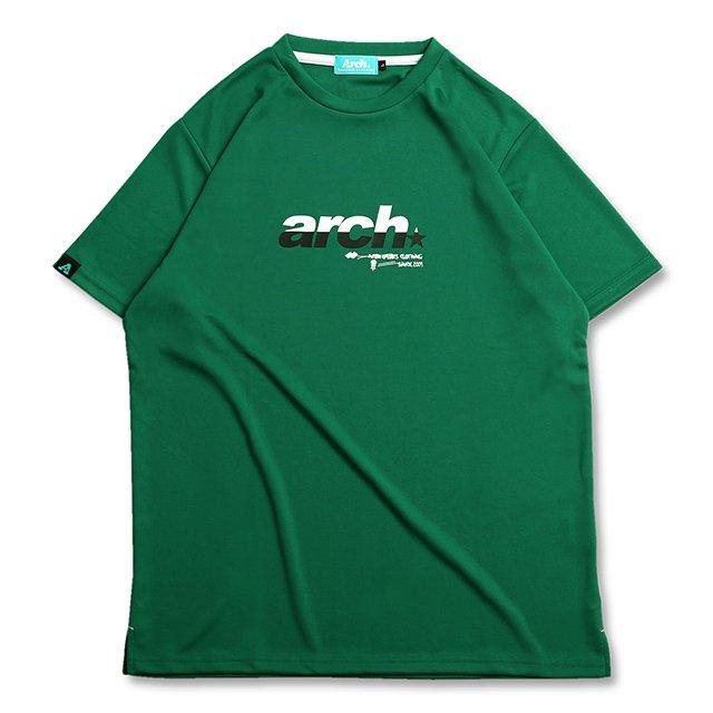 バスケ アーチ スプリット スポーティロゴ Tシャツ グリーン