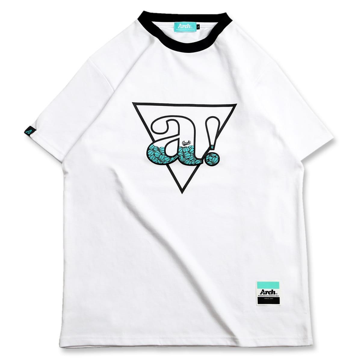 バスケ トライアングル エー ドライコットン Tシャツ ホワイト