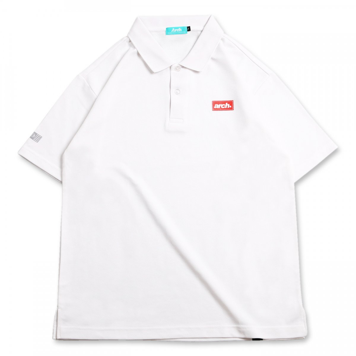 バスケ スクエアロゴ ポロシャツ ホワイト