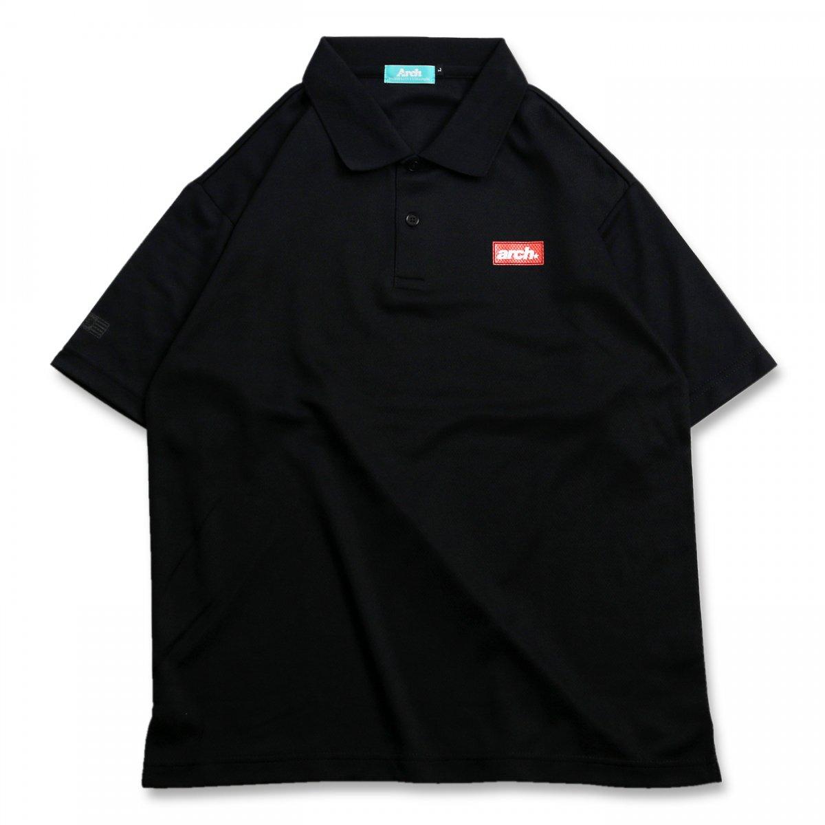 バスケ スクエアロゴ ポロシャツ ブラック
