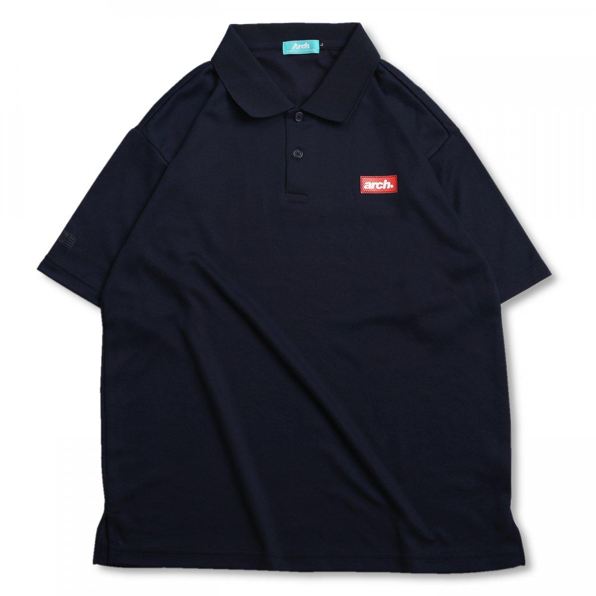 バスケ スクエアロゴ ポロシャツ ネイビー