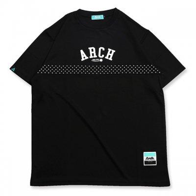 バスケ アーチ パネル スタードット Tシャツ ブラック