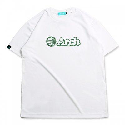 バスケ アーチ ボール ロゴ Tシャツ ホワイト グリーン