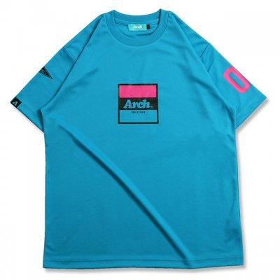 バスケ アーチ トリコロゴ Tシャツ ターコイズ