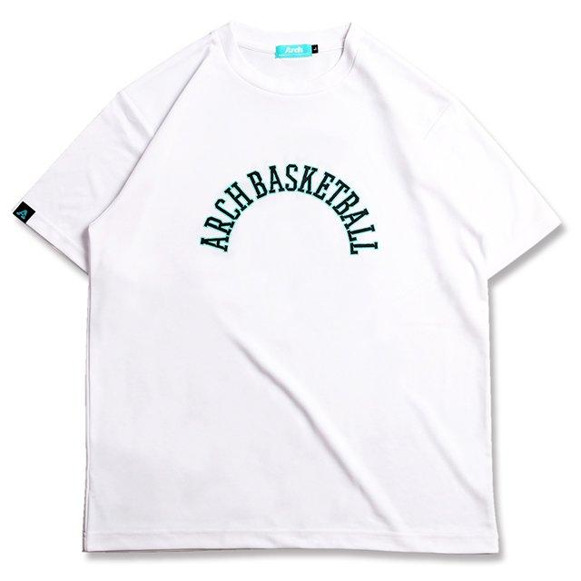 バスケ アーチ ボーダー 09 Tシャツ ホワイト