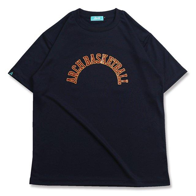 バスケ アーチ ボーダー 09 Tシャツ ネイビー