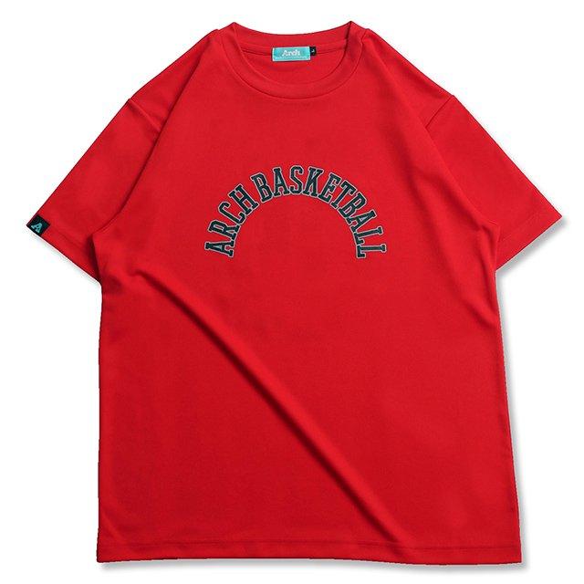 バスケ アーチ ボーダー 09 Tシャツ レッド