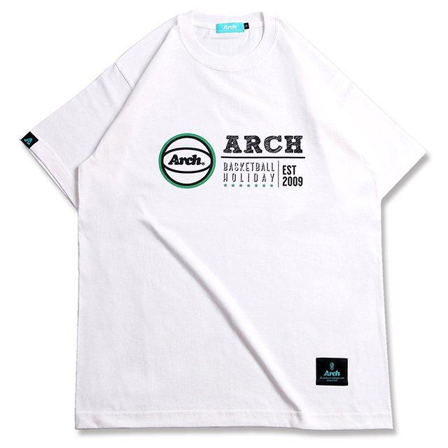 バスケ アーチ ホリデー Tシャツ ホワイト