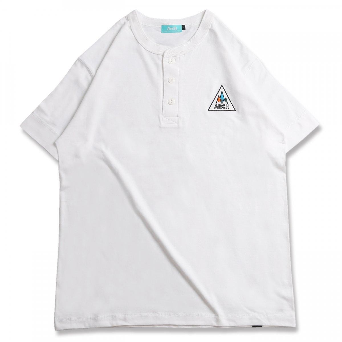 バスケ アーチ ゴーアラウンド ヘンリー Tシャツ ホワイト