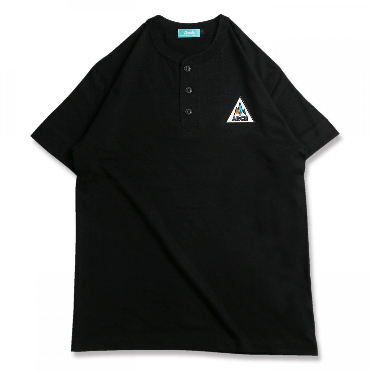 バスケ アーチ ゴーアラウンド ヘンリー Tシャツ ブラック