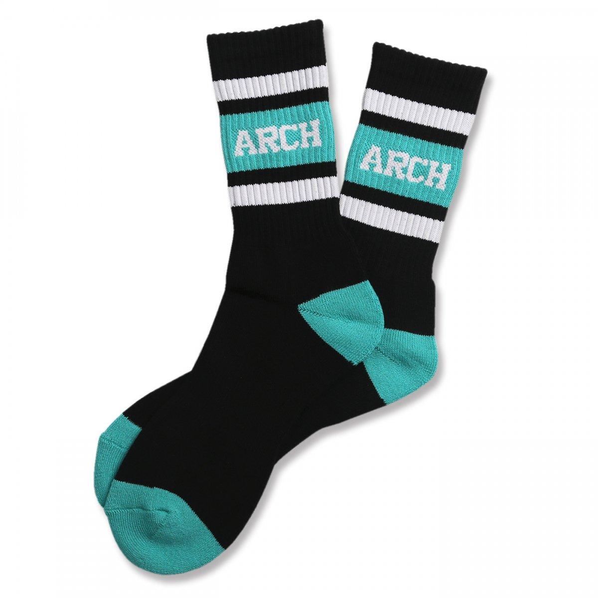 classic sporty mid. socks【black/mint】
