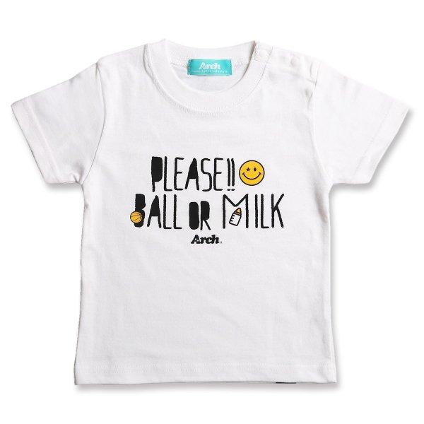 バスケ アーチ プリーズ Tシャツ ホワイト