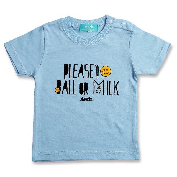 バスケ アーチ プリーズ Tシャツ ライトブルー