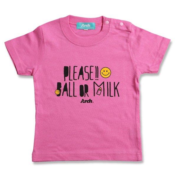 バスケ アーチ プリーズ Tシャツ ピンク