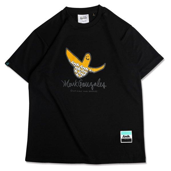 バスケ マークゴンザレス x アーチ  ロゴTシャツ ブラック