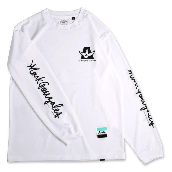 バスケ マークゴンザレス x アーチ カーシブ MG ロングスリーブTシャツ ホワイト