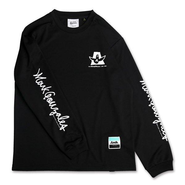 バスケ マークゴンザレス x アーチ カーシブ MG ロングスリーブTシャツ ブラック