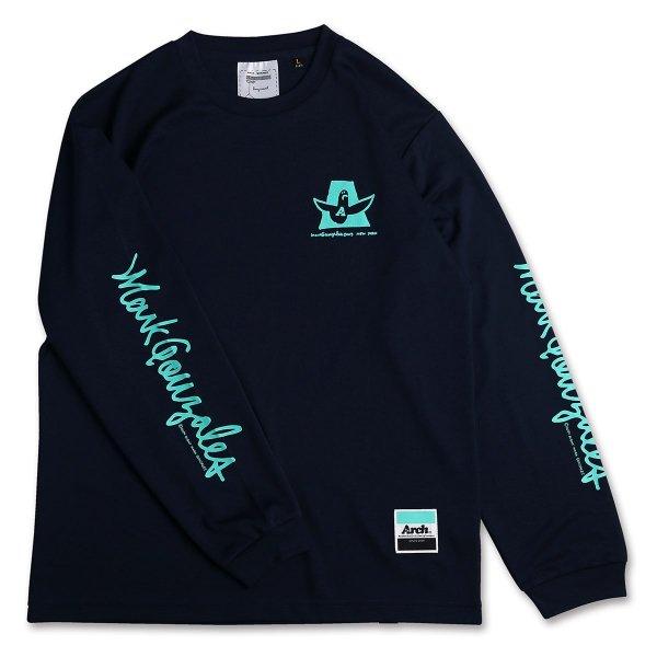 バスケ マークゴンザレス x アーチ カーシブ MG ロングスリーブTシャツ ネイビー