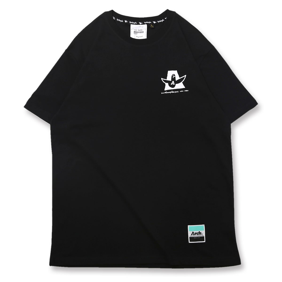 Mark Gonzales x Arch baskett ballers tee【black】