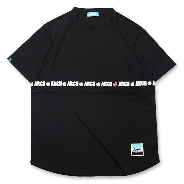 バスケ アーチ  アップルTシャツ ブラック
