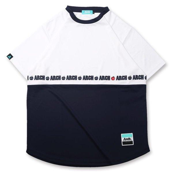バスケ アーチ  アップルTシャツ ホワイト/ネイビー