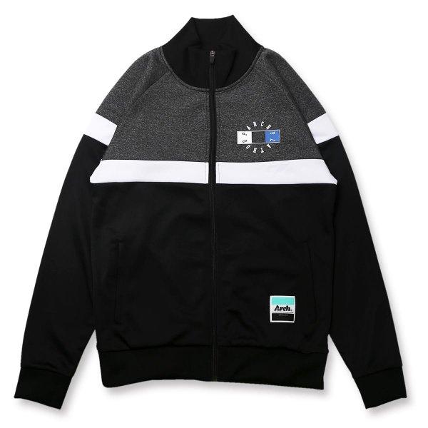 バスケ アーチ  スリースクエアロゴ ジャージジャケット ブラック