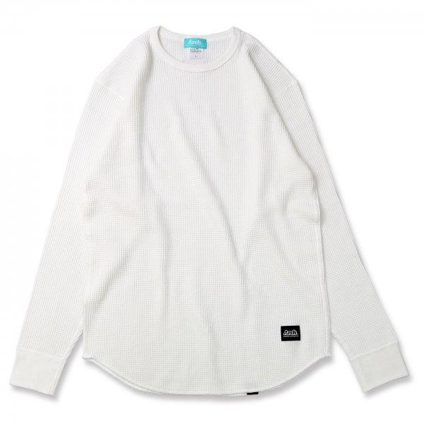 バスケ アーチ ワッフルL/S Tシャツ ホワイト