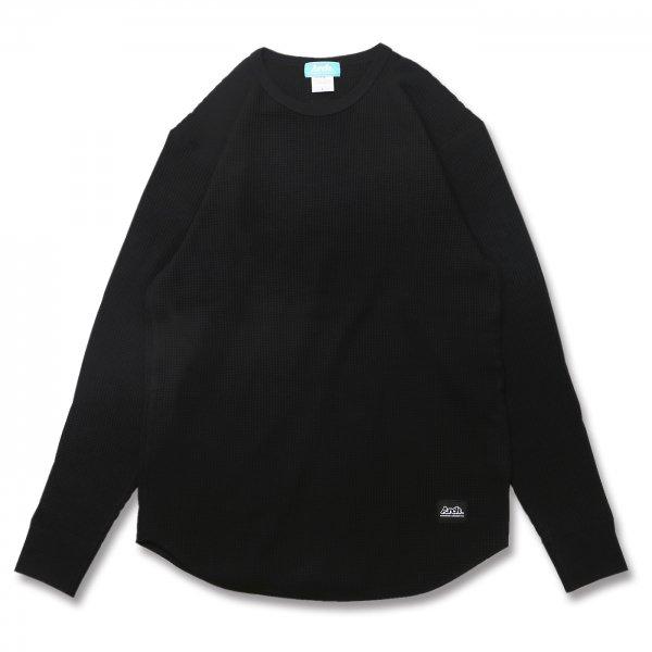 バスケ アーチ ワッフルL/S Tシャツ ブラック