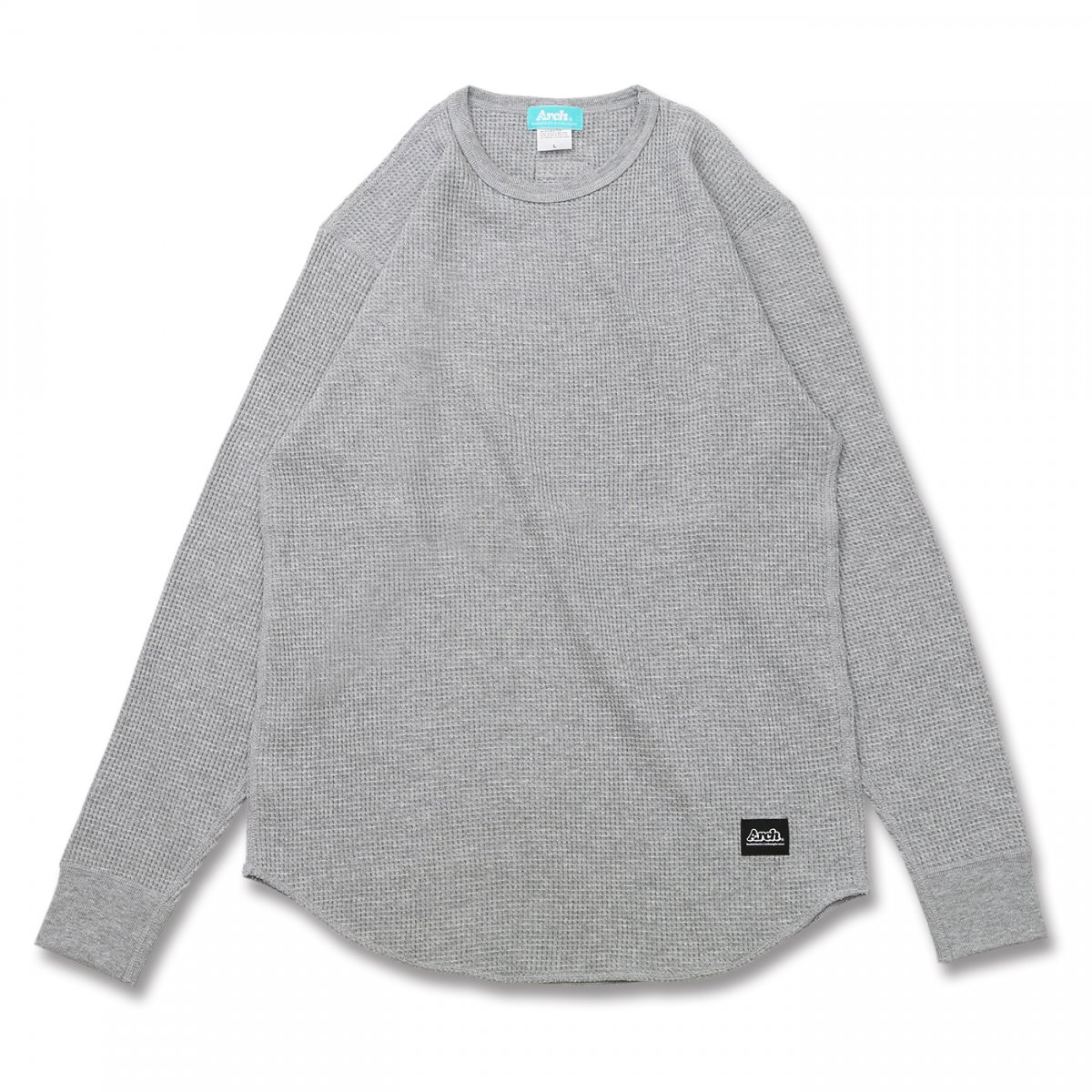 basic waffle L/S tee【heather gray】