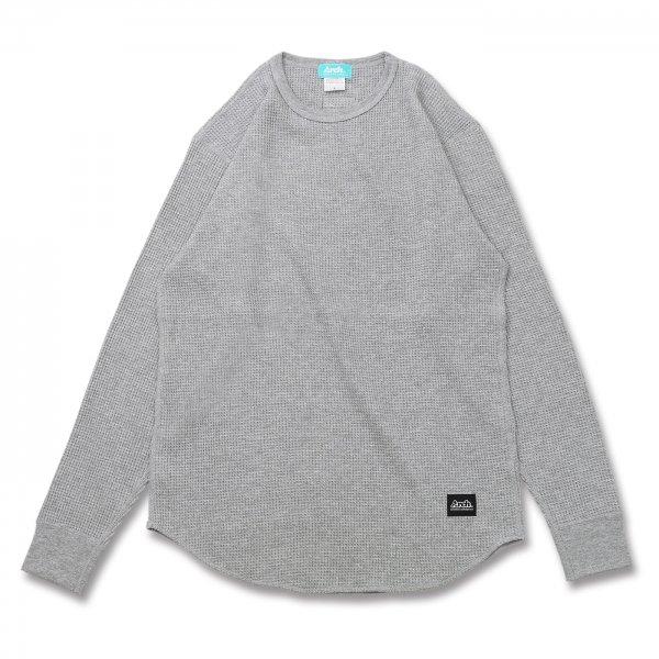 バスケ アーチ ワッフルL/S Tシャツ ヘザーグレー