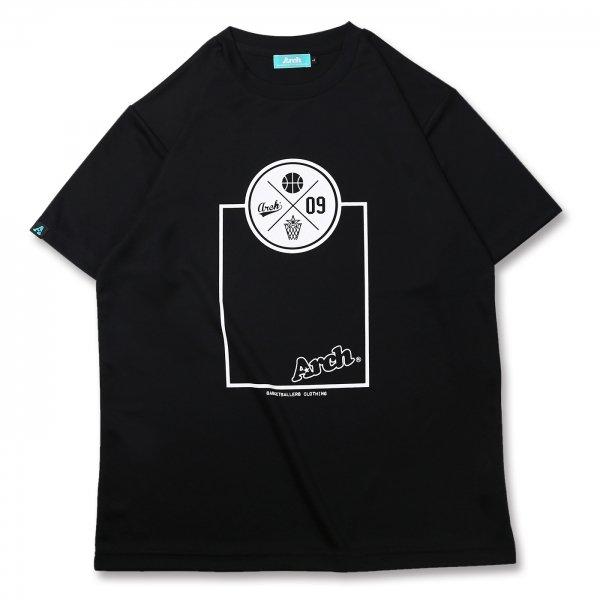 バスケ アーチ スローTシャツ ブラック