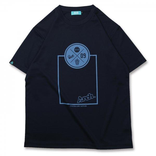 バスケ アーチ スローTシャツ ネイビー