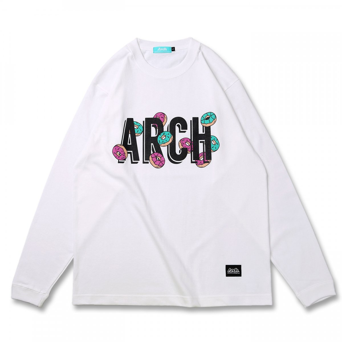 donut ball L/S tee【white】