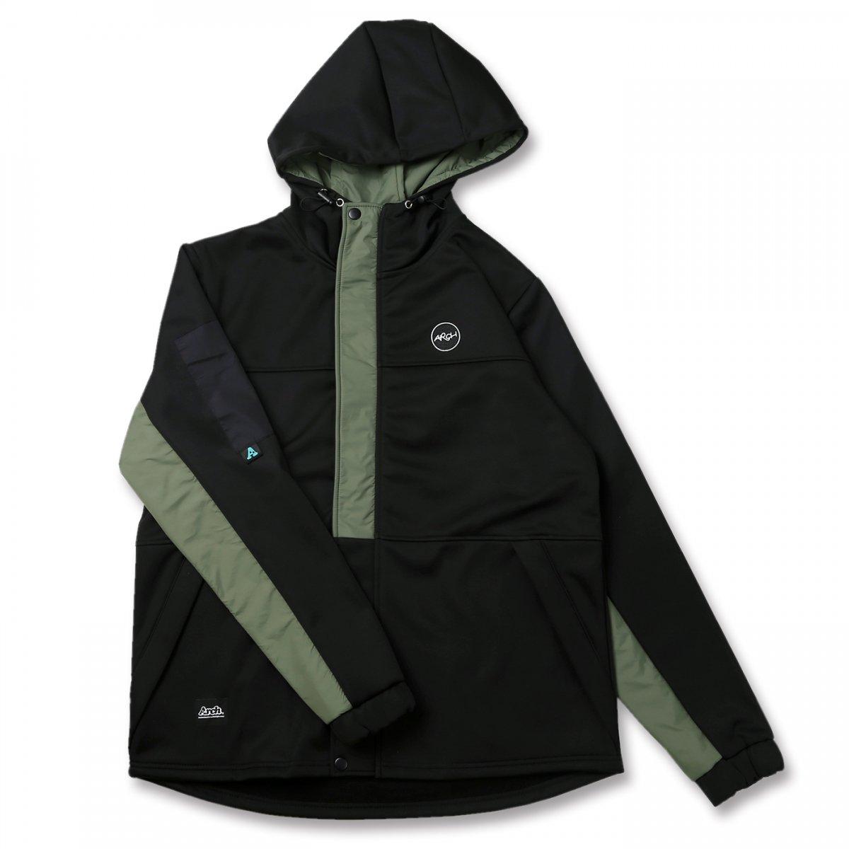 bonded hoodie jacket【black】
