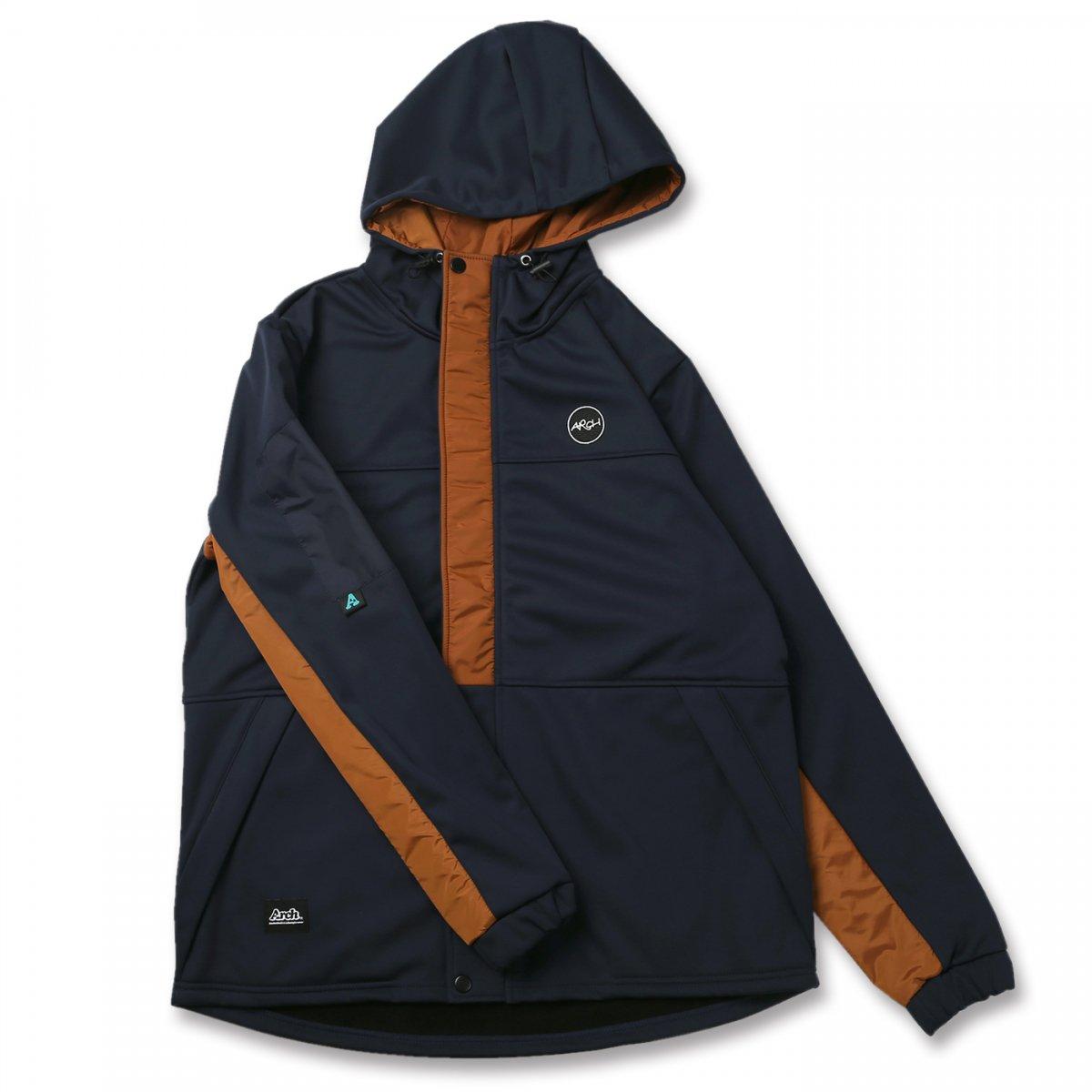 bonded hoodie jacket【navy】
