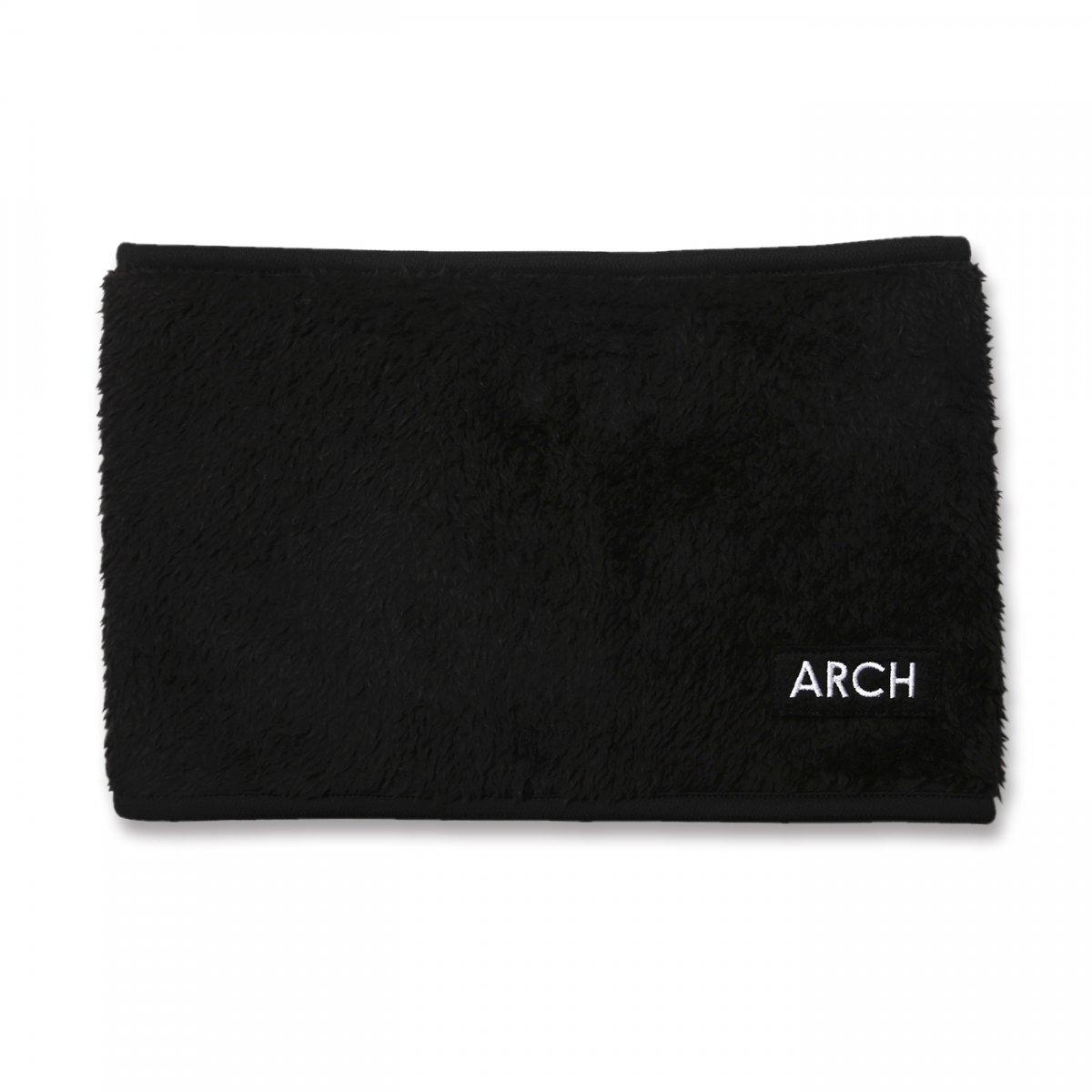patch rev. neck warmer【black/khaki】