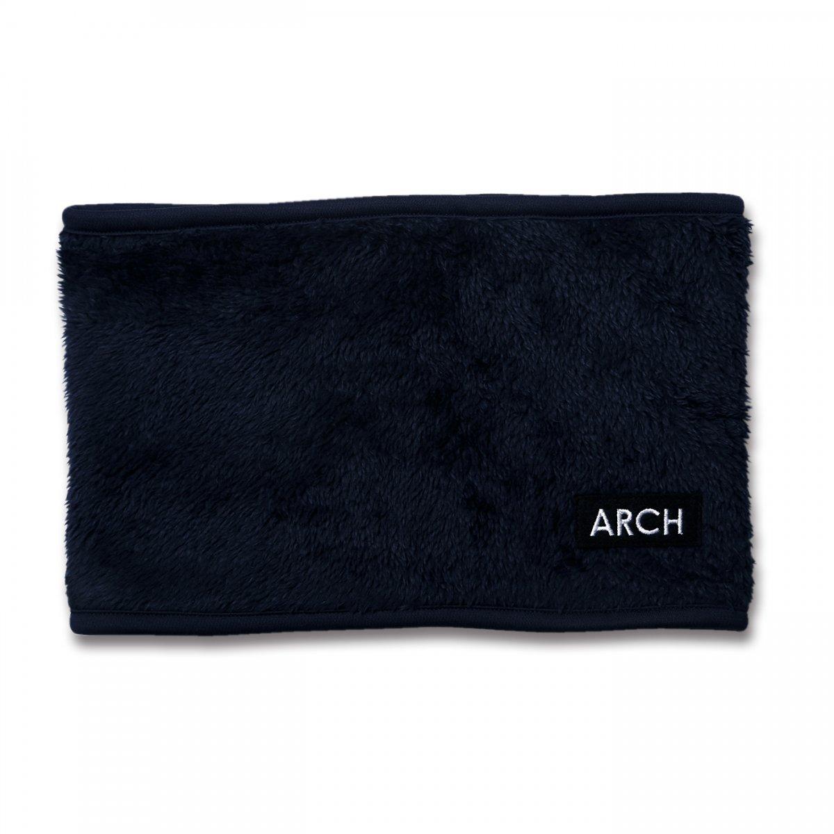 patch rev. neck warmer【navy/brown】