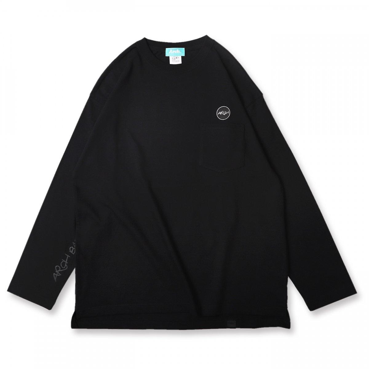 patched pocket L/S tee【black】