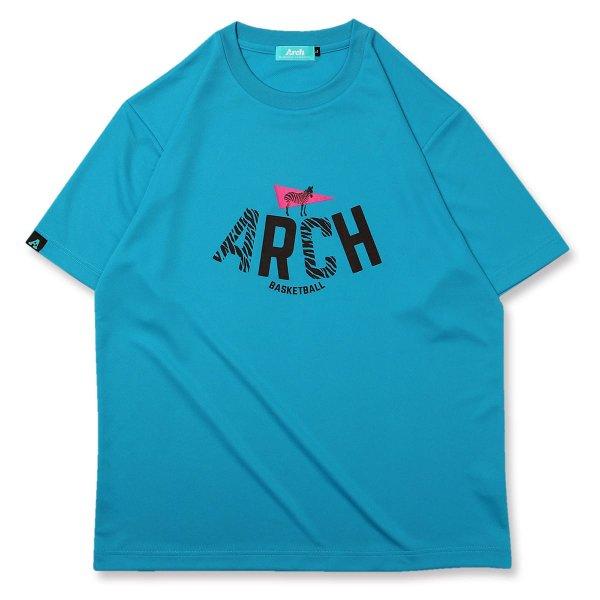バスケ アーチ  ゼブラTシャツ ターコイズ