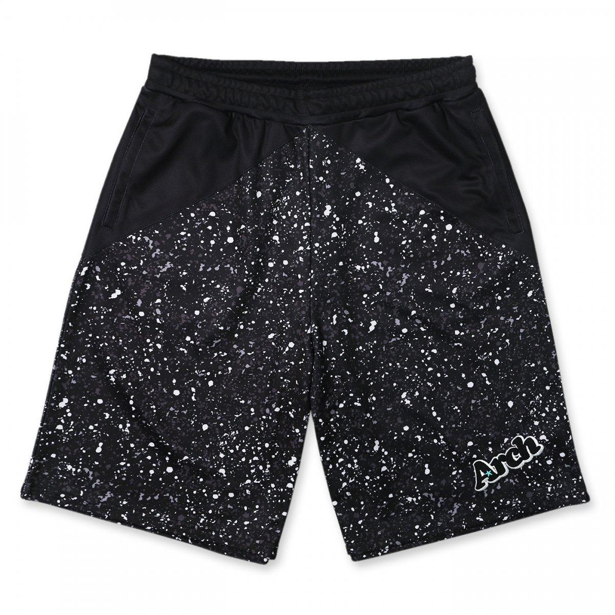 paint splatter shorts【black】