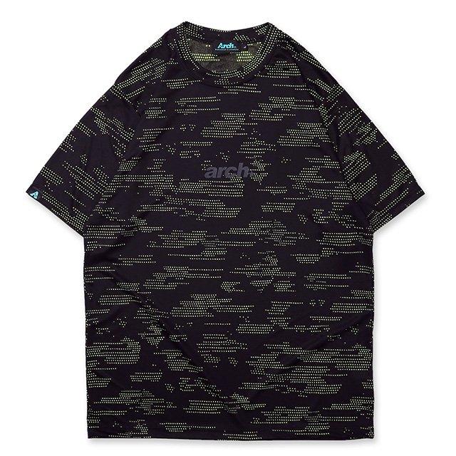 バスケ アーチ  コズミックTシャツ ブラック/イエロー