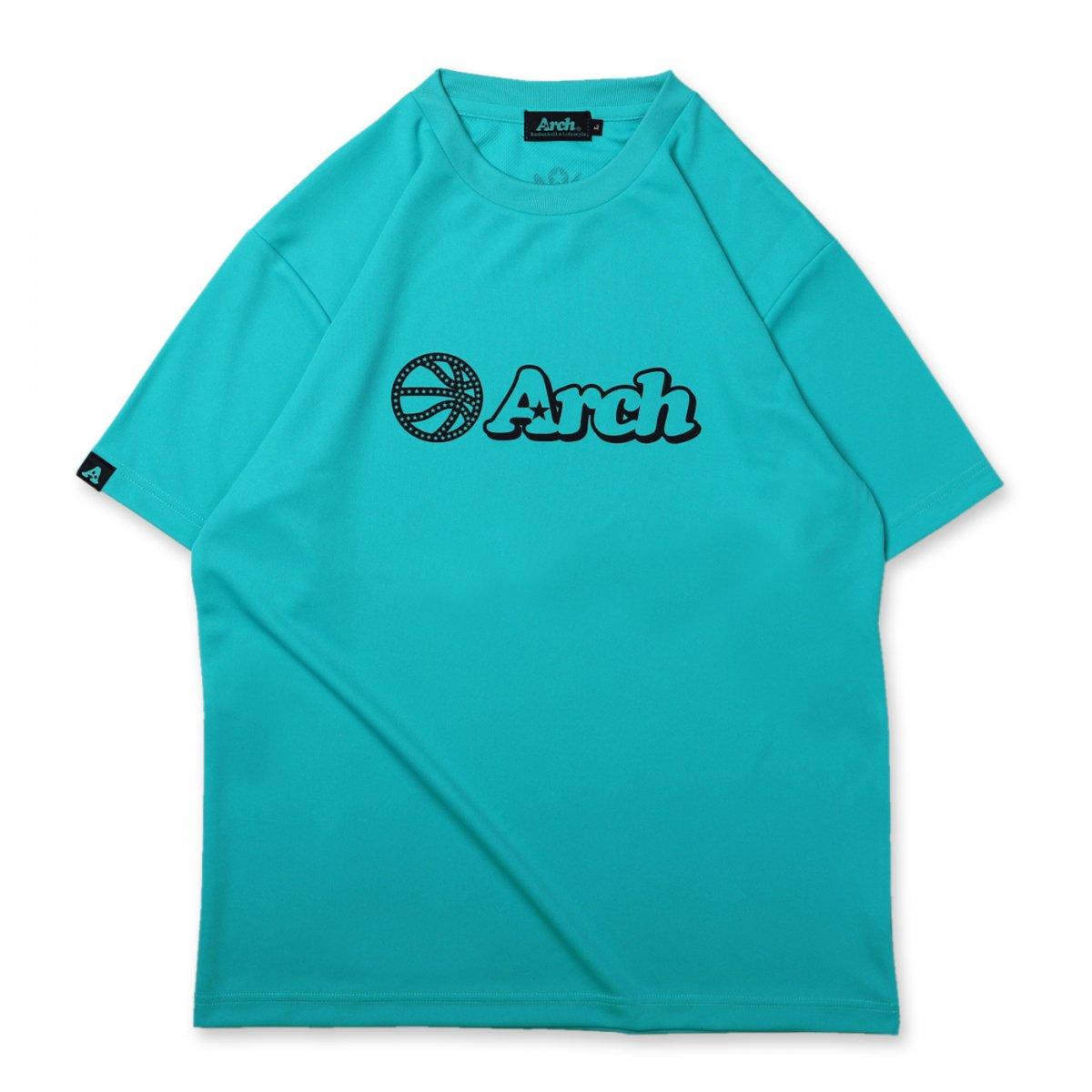 バスケ アーチ ボール ロゴ Tシャツ ミントブルー ブラック