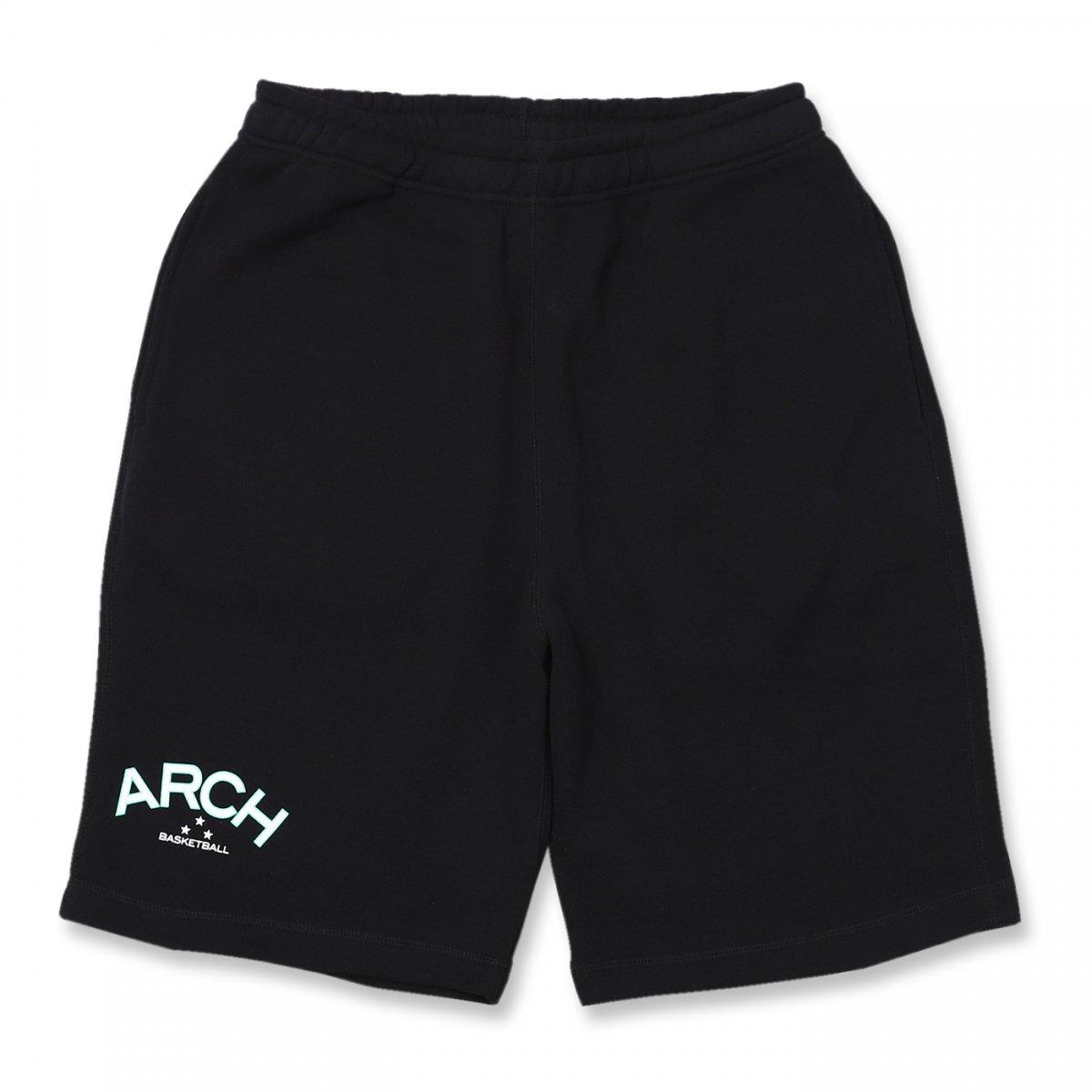 three star sweat shorts【black】