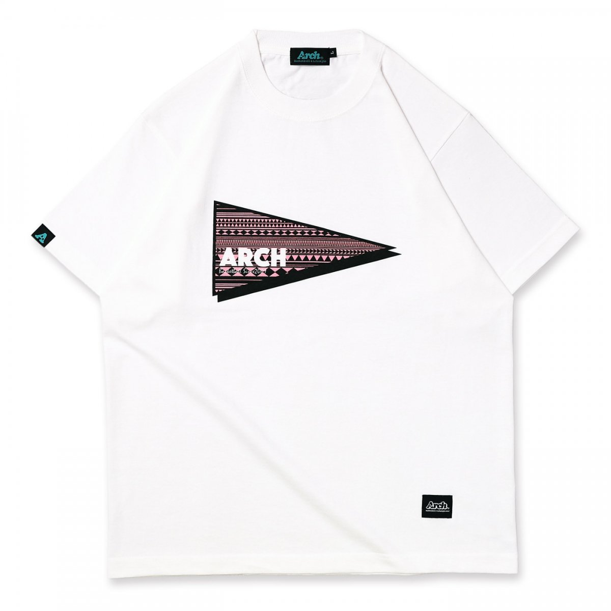 tribal pennant tee【white】