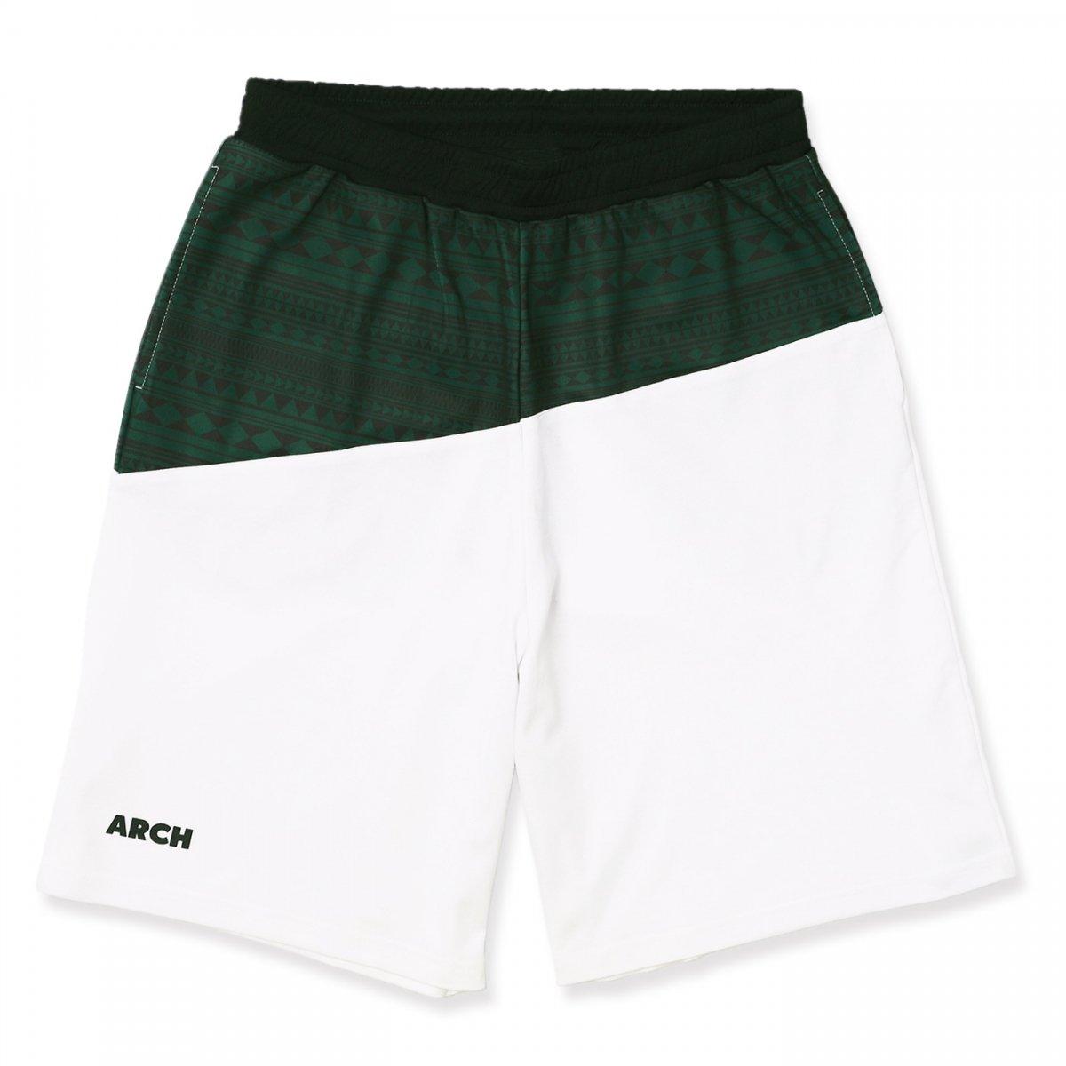 tribal lip shorts【white】