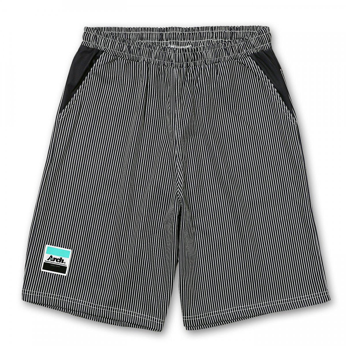 hickory stripe shorts【gray】