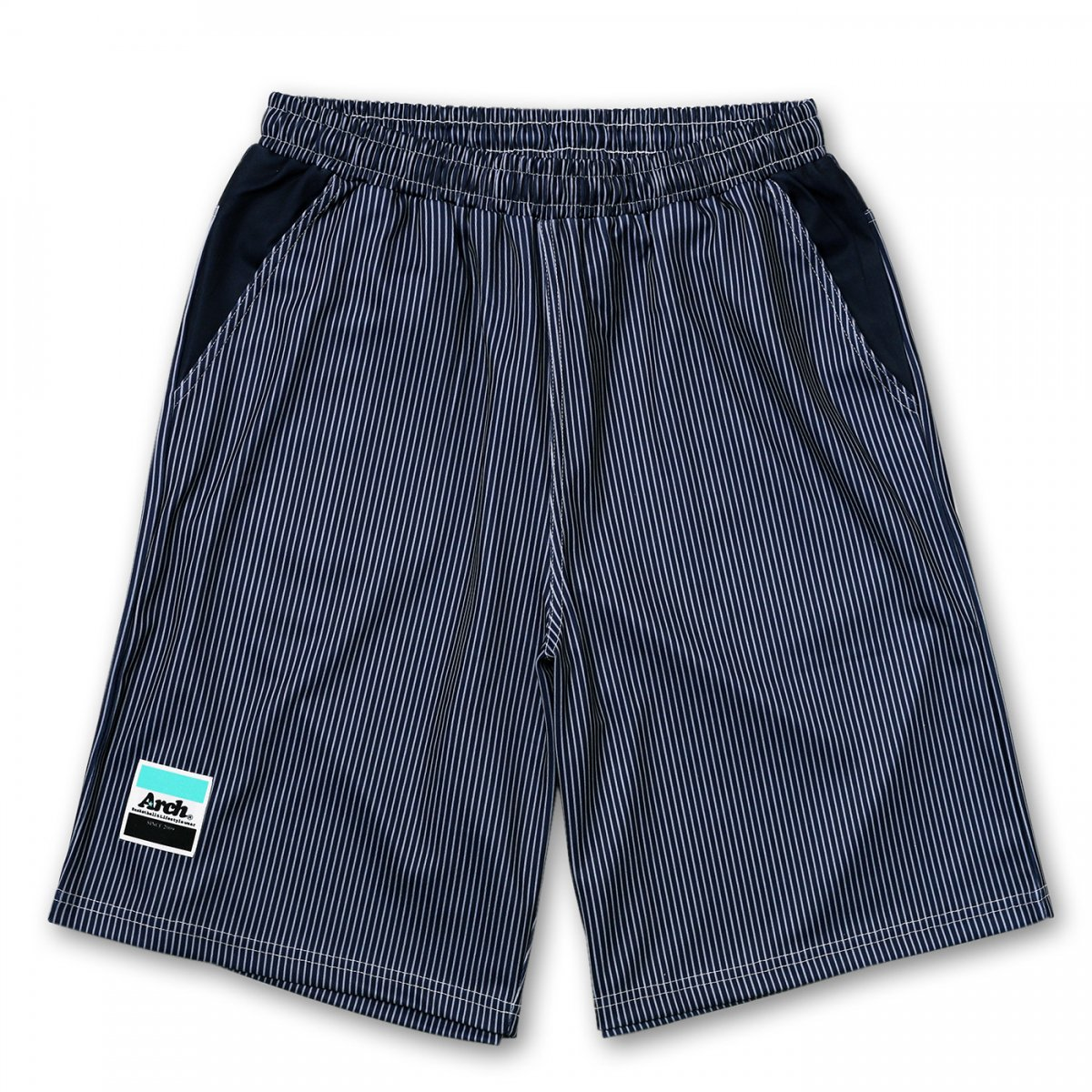 hickory stripe shorts【navy】