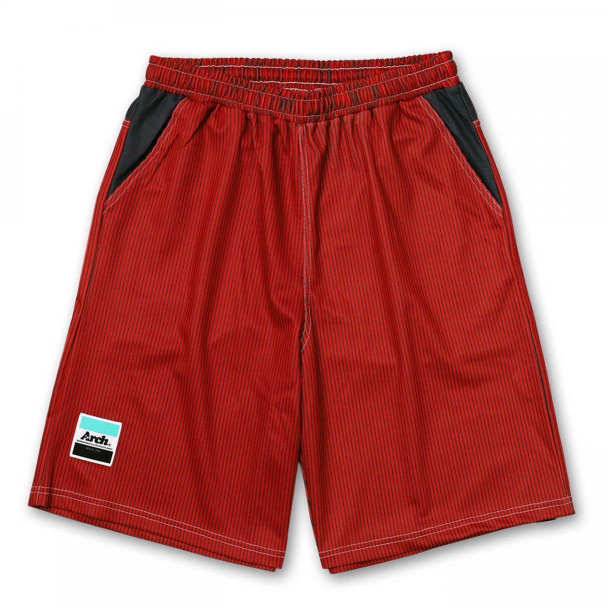 hickory stripe shorts【red】