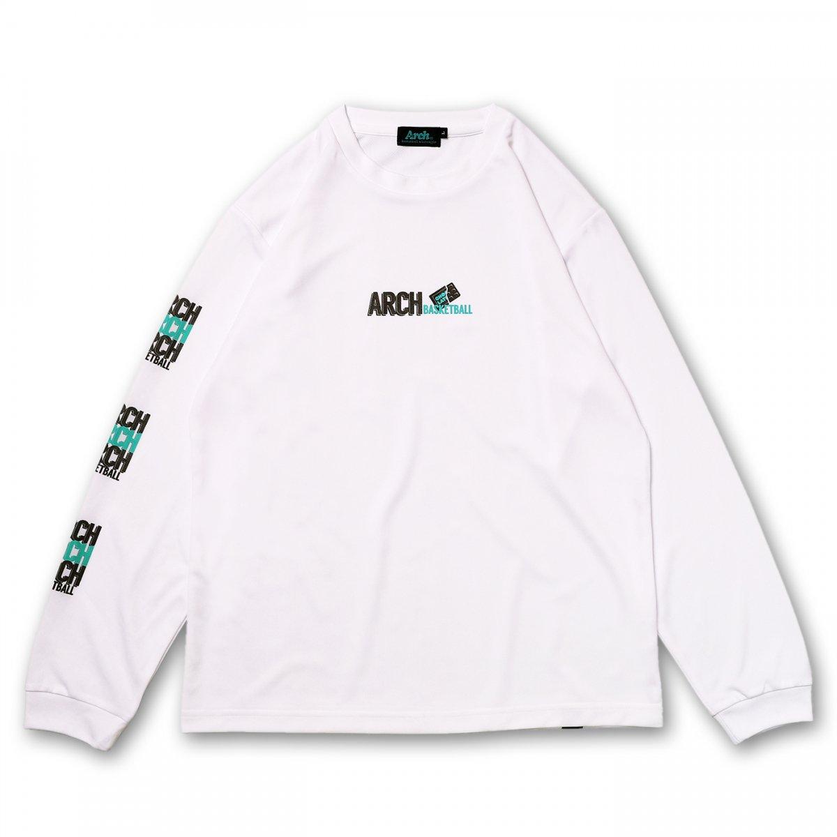 バスケ アーチ チョコボーダー L/S Tシャツ ホワイト